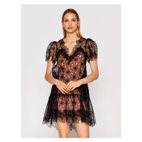 Red Valentino Sukienka koktajlowa VR0VA17Z Czarny Regular Fit