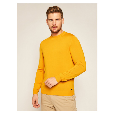 Roy Robson Sweter 5051-91 Żółty Regular Fit