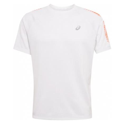 ASICS Koszulka funkcyjna jasnoszary / biały / koralowy
