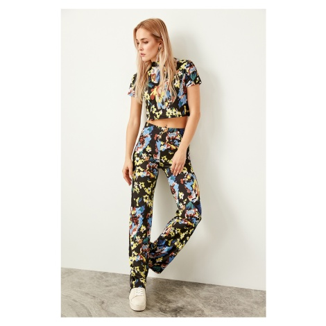 Trendyol Multicolored Patterned Knit Pants Flare