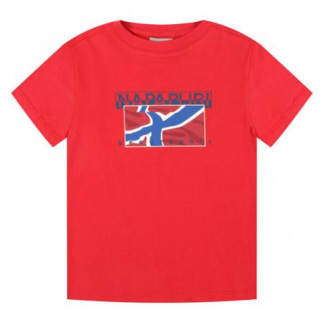 Napapijri T-Shirt K Sallyn NP0A4E52R S Czerwony Regular Fit
