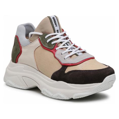Sneakersy BRONX - 66167C-CS Asphalt/Camel/Khaki Suede/Bamboo/Nappa 126