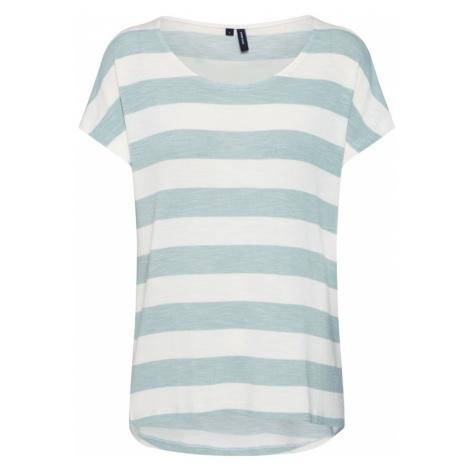 VERO MODA Koszulka miętowy / biały