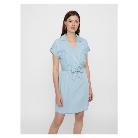 Jasnoniebieska sukienka koszulowa Noisy May Vera