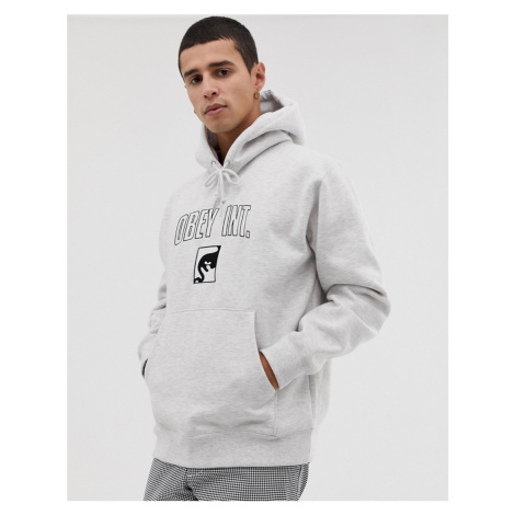 Obey International hoodie in grey