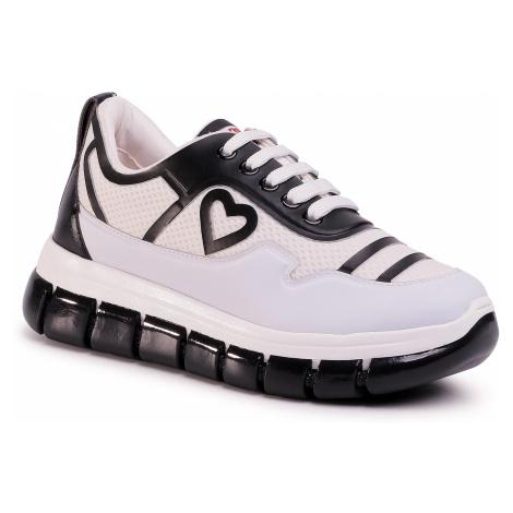 Sneakersy LOVE MOSCHINO - JA15225G0AJS110A Bia./Vit.Nero