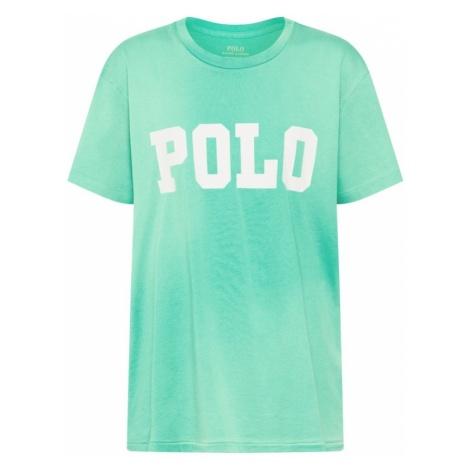 POLO RALPH LAUREN Koszulka 'BIG POLO' zielony / biały