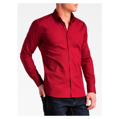 Ombre Clothing Men's slim shirt with long sleeves K504