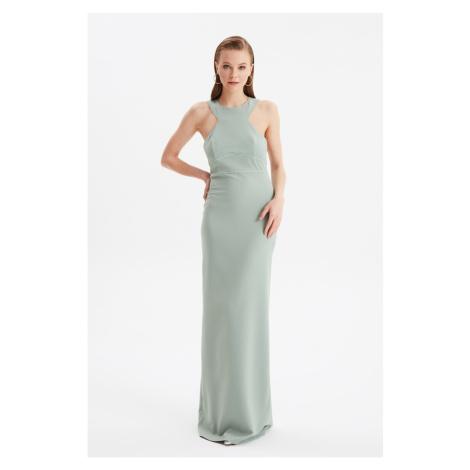 Trendyol Mint Back Szczegółowa suknia wieczorowa & suknia dyplomowa