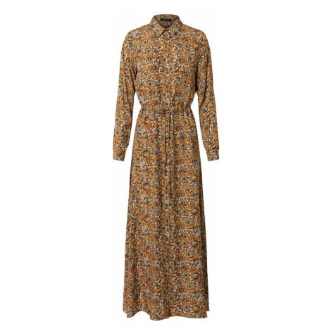 Trendyol Sukienka koszulowa beżowy / brązowy / koniakowy / biały