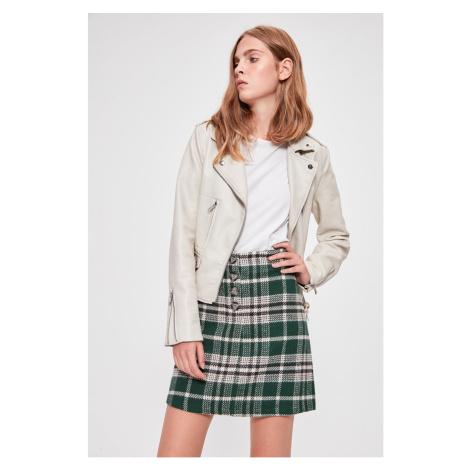 Trendyol Green Button Detailed Skirt