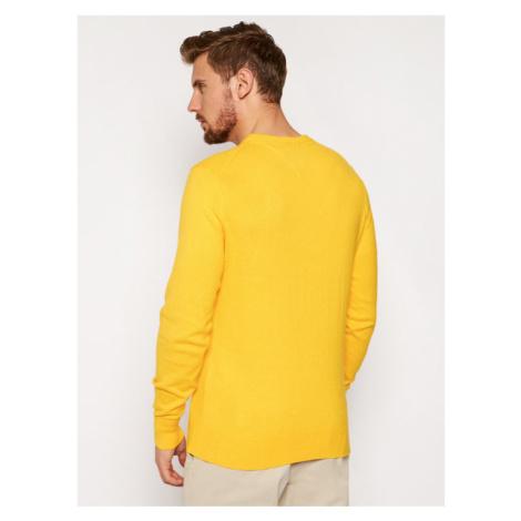 Tommy Hilfiger Sweter Pima Cotton Cashmere Crew MW0MW11674 Żółty Regular Fit