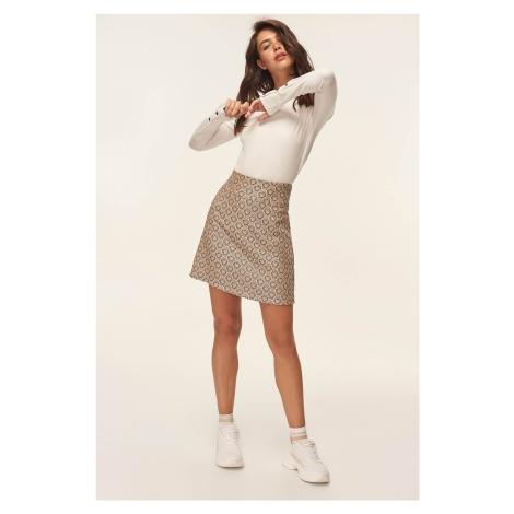 Trendyol Yellow Jacquard Skirt