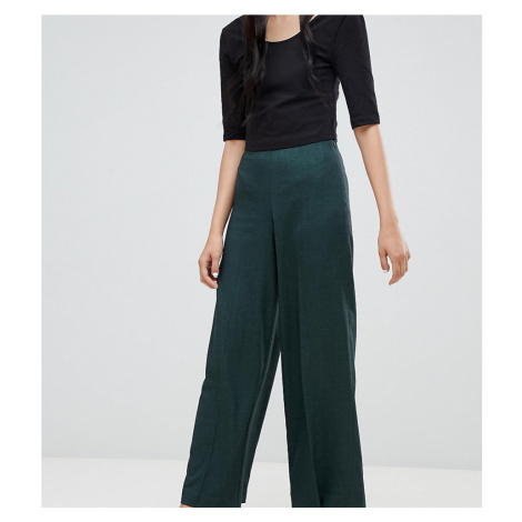 Weekday twill wide leg trousers