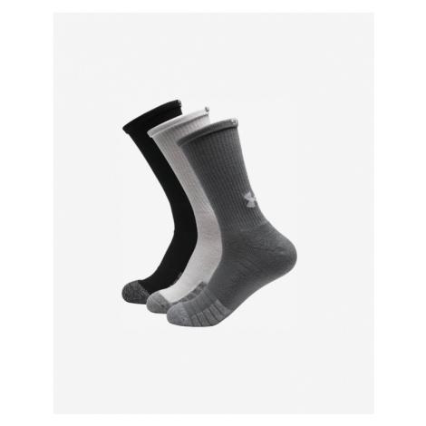 Under Armour HeatGear® 3-pack Skarpetki Czarny Biały Szary