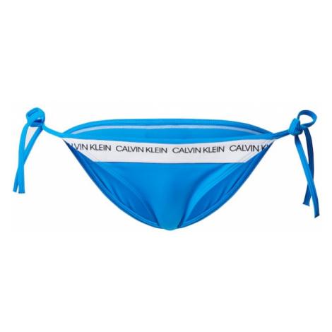 Calvin Klein Swimwear Dół bikini niebieski