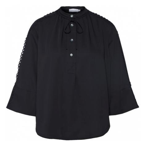 Calvin Klein Bluzka 'LACE TRIM' czarny