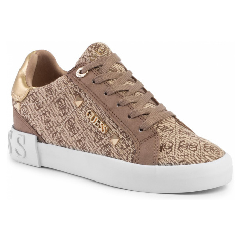 Sneakersy GUESS - Puxly2 FL5P2X FAL12 BEIGE/BROWN