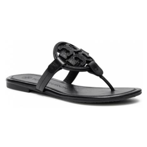 Tory Burch Japonki Metal Miller Embellished Sandal 79535 Czarny