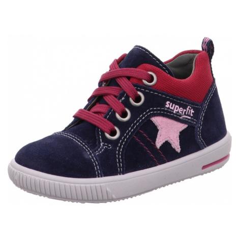 SUPERFIT Trampki 'Moppy' czerwony / niebieski / różowy pudrowy