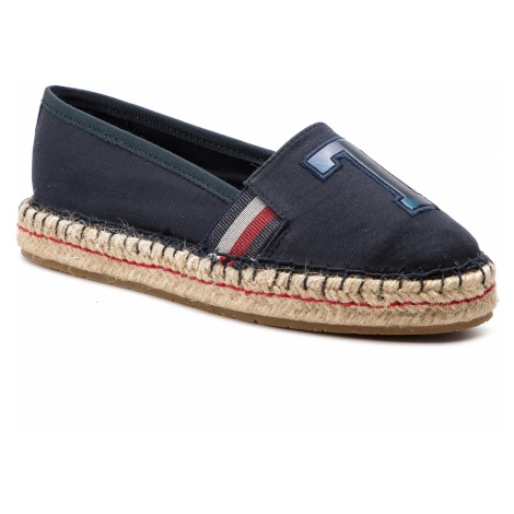 Espadryle TOMMY HILFIGER - Patch Espadrille FW0FW03846 Midnight 403