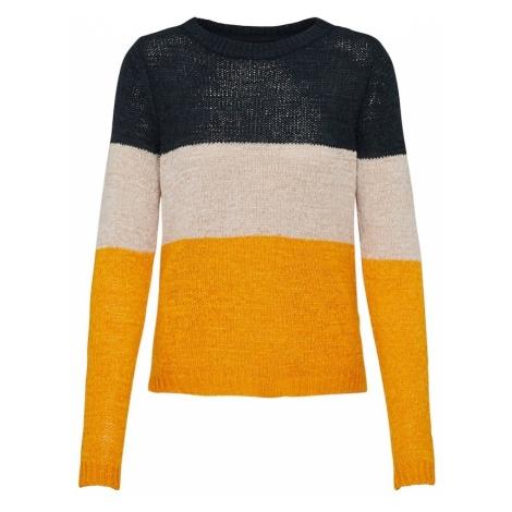 ONLY Sweter 'GEENA' niebieska noc / pomarańczowy / pudrowy