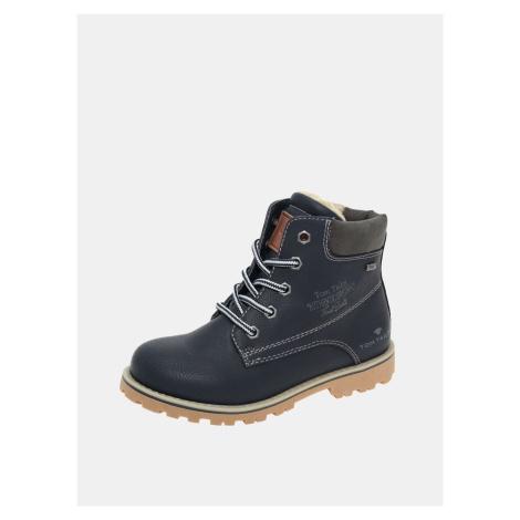Granatowe dziecięce buty zimowe Tom Tailor