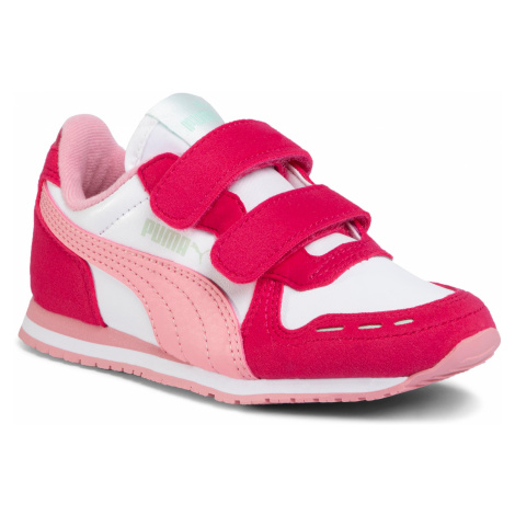 Sneakersy PUMA - Cabana Racer Sl V Ps 360732 81 Puma White/Bright Rose/Peony
