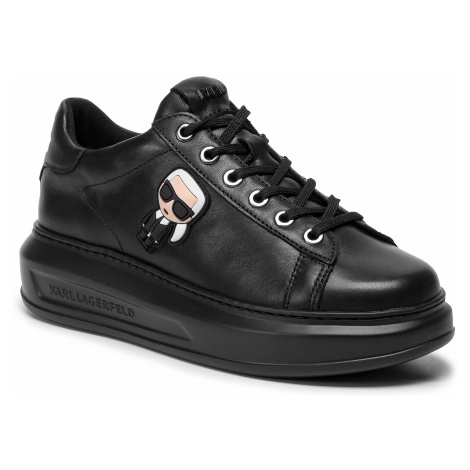 Sneakersy KARL LAGERFELD - KL62530 Black Lthr/Mono