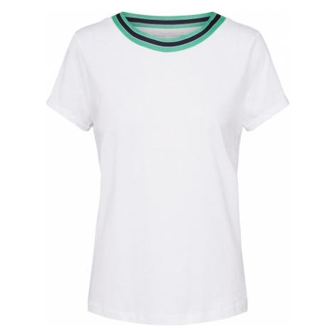 TOM TAILOR DENIM Koszulka ciemnozielony / biały