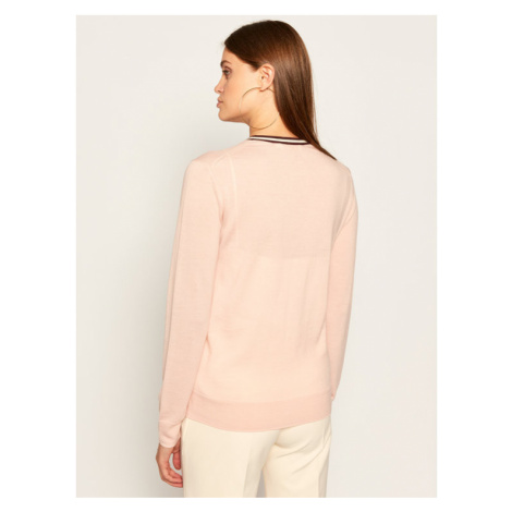 Tory Burch Sweter Madeline 57330 Różowy Regular Fit