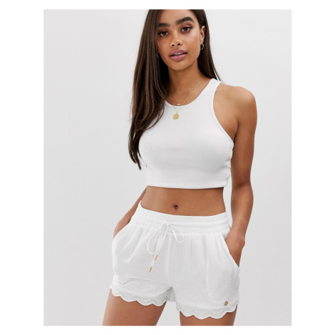 Superdry Jenna broderie lace shorts