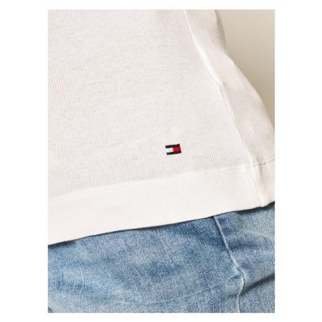 TOMMY HILFIGER T-Shirt Essential WW0WW25268 Biały Skinny Fit