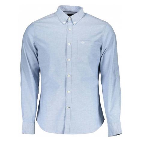 Dockers, Shirt Long Sleeves Niebieski, male, rozmiary: