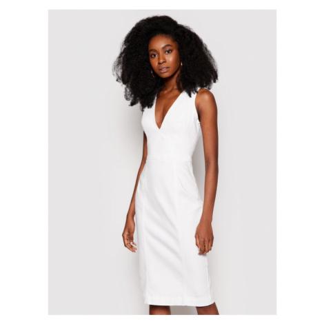 Guess Sukienka jeansowa W1GK17 D4DN1 Biały Regular Fit