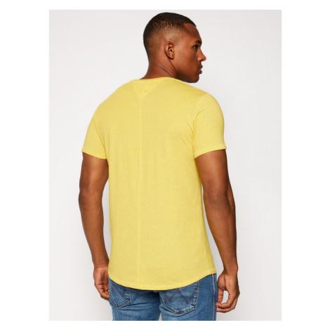 Tommy Jeans T-Shirt Jaspe Tee DM0DM08740 Żółty Regular Fit Tommy Hilfiger