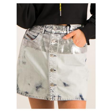 Diesel Spódnica jeansowa 00SUID 0890Q Szary Slim Fit