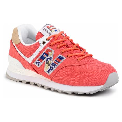 Sneakersy NEW BALANCE - WL574SOF Czerwony
