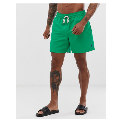 Polo Ralph Lauren Traveler swim shorts in slim fit with polo player in bright green