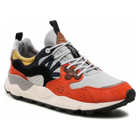 Sneakersy FLOWER MOUNTAIN - Yamano 3 Man 0012015665.03.1G38 Orange/Black