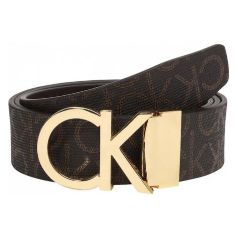 Calvin Klein Pasek 'NEW MONO 3.5CM' brązowy / złoty