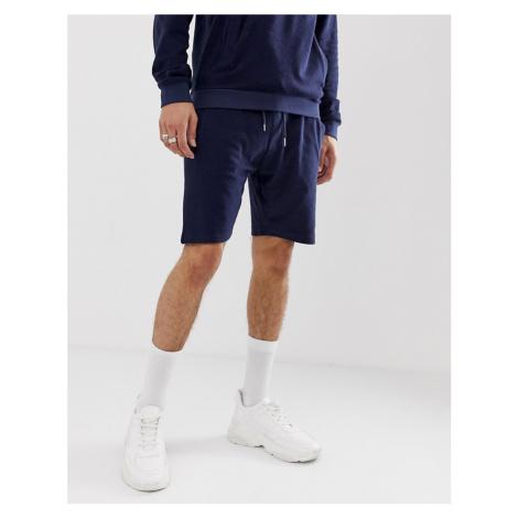 Bellfield slub towelling shorts in navy