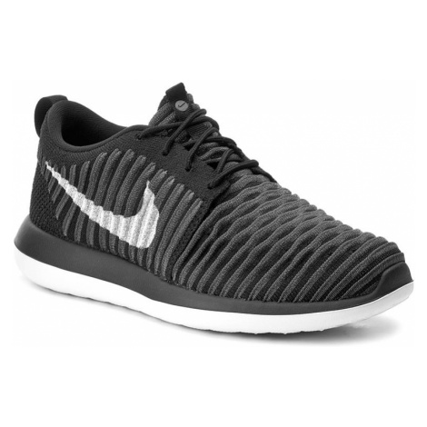 Buty NIKE - Roshe Two Flyknit (GS) 844619 001 Black/White/Anthracite/Drk Gry