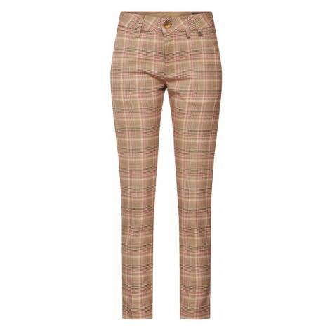 Herrlicher Spodnie 'Lovely Poly Check' brązowy