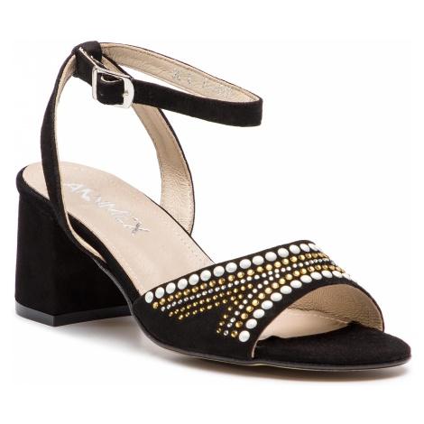 Sandały ANN MEX - 0057 01W Czarny