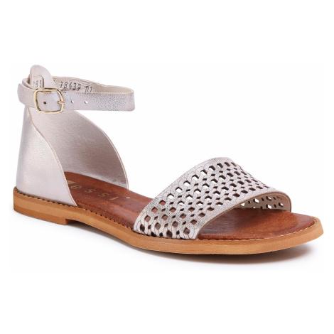 Sandały NESSI - 18381 Złoto 815