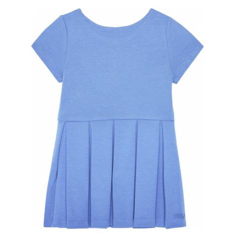 Polo Ralph Lauren Sukienka codzienna Solid Dre 311794817 Niebieski Regular Fit