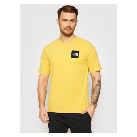 The North Face T-Shirt Masters Of Stone NF0A492IZBJ1 Żółty Regular Fit