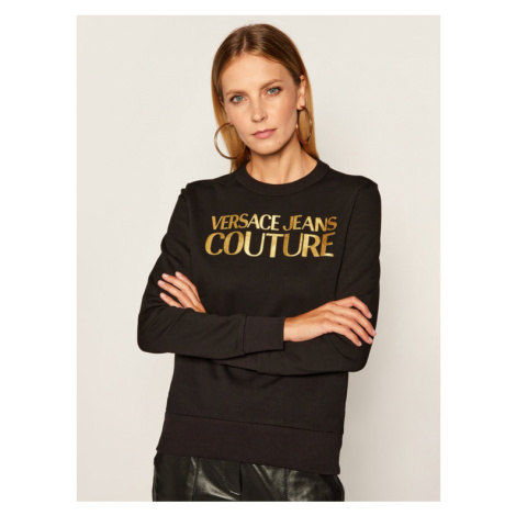 Versace Jeans Couture Bluza B6HZA7TQ Czarny Regular Fit