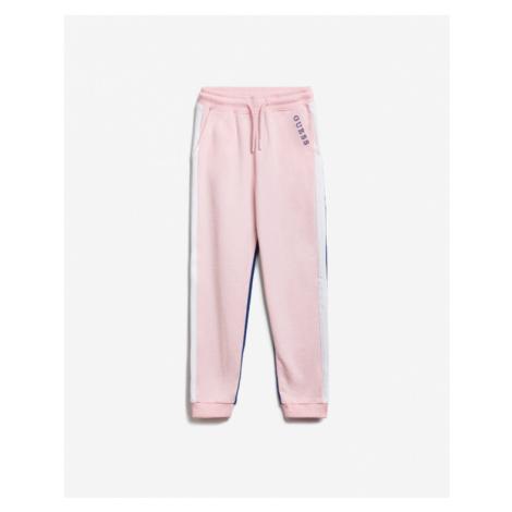 Guess Spodnie dresowe dziecięce Niebieski Różowy